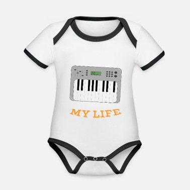 Synthesizer Synthesizer Changed My Life - Organic Baby Contrasting Bodysuit