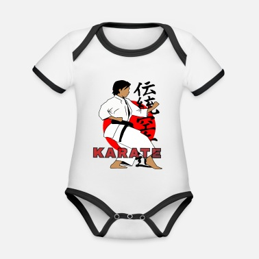 Tradition TRADITIONAL KARATE - Organic Baby Contrasting Bodysuit