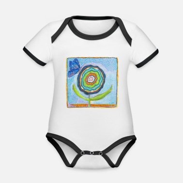 blue-balloons-collection - Organic Contrast Baby Bodysuit