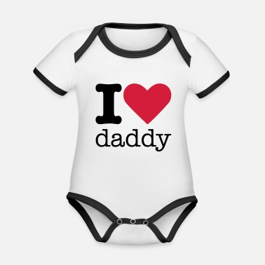 I Love I Love Daddy - Vauvan kontrastivärinen body