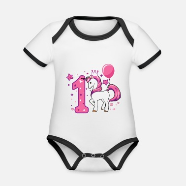 First First birthday, gift first birthday - Organic Contrast Baby Bodysuit