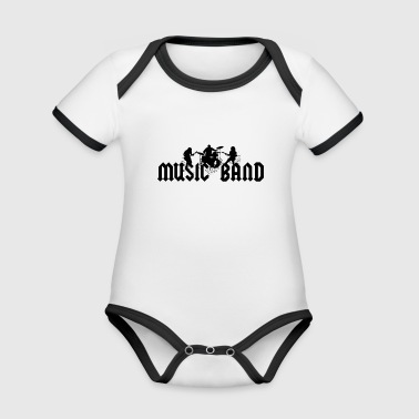 Music Band Shirt Tee. Music band, band, rock band - Organic Baby Contrasting Bodysuit