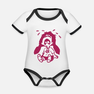 Crybaby crybaby - Organic Contrast Baby Bodysuit