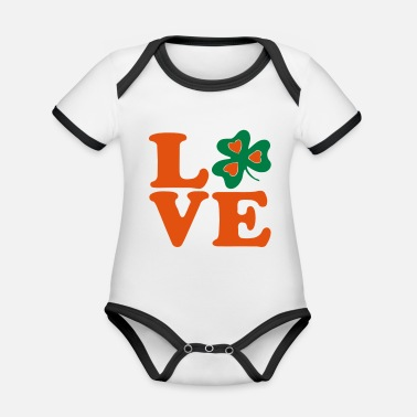 Most Bucket List Languages To Learn People To Meet And Fall In Love Countries To Visit And Travel To ♥ټ☘I Love Irish-Ireland-Happy St Patty's Day☘ټ♥ - Organic Contrast Baby Bodysuit