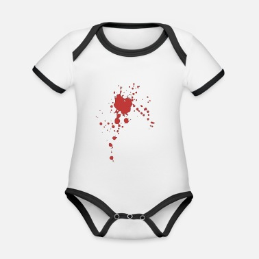 Blood Splatter Blood splatter blotch stain blood stain - Organic Contrast Baby Bodysuit