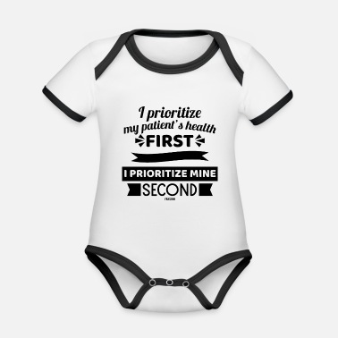 Injured Nurse funny gift - Organic Contrast Baby Bodysuit