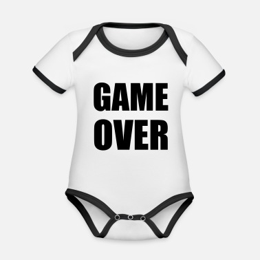 Game Over game over - Økologisk kontrast babybody
