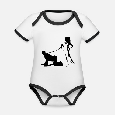 Bdsm serve, Mistress, Slave, BDSM - Organic Contrast Baby Bodysuit