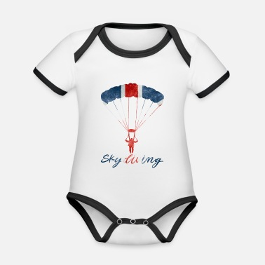 Uk Skydiving #UK - Baby Bio Kurzarmbody zweifarbig