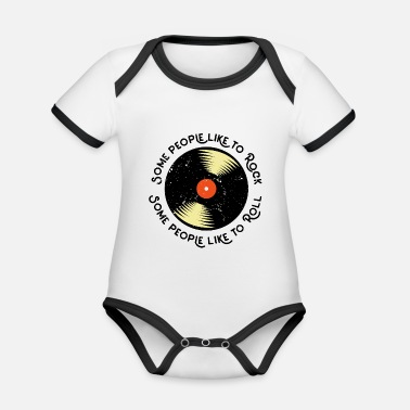 Lets Have A Party Let's have a party (digital print) - Organic Contrast Baby Bodysuit