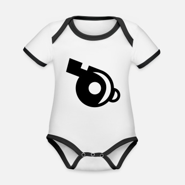 Whistle Whistle Whistle - Organic Contrast Baby Bodysuit
