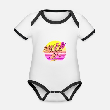 Back To The 80's - Organic Contrast Baby Bodysuit