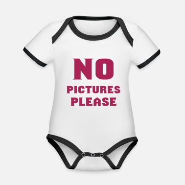 Picture no pictures please - Organic Contrast Baby Bodysuit