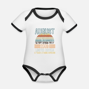 Bone Birthday Shirt For Those Who Were Born In 2009  - Organic Contrast Baby Bodysuit