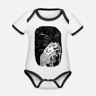 Galaxey Dreamer under the stars - Organic Contrast Baby Bodysuit