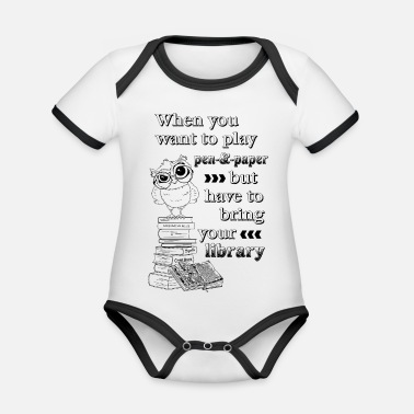 Role Playing Game Role Playing Library - black - Organic Baby Contrasting Bodysuit