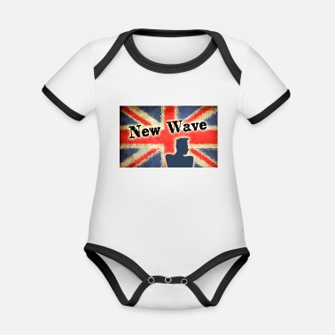 New Wave new wave - Organic Contrast Baby Bodysuit