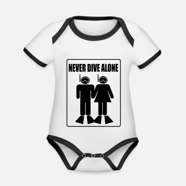 Never Dive Alone - Body Bébé bio contrasté