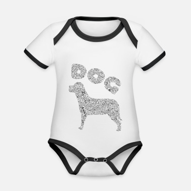 Mountains Dog bike quadruped passion - Organic Contrast Baby Bodysuit