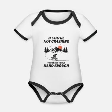 Cyclist Mountain biking bicycle off-road Bike MTB Gift - Organic Contrast Baby Bodysuit
