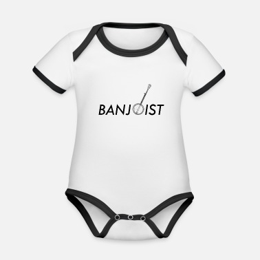 Traditionell Banjo Bluegrass Music Traditionelles Musikergeschenk - Baby Bio Kurzarmbody zweifarbig