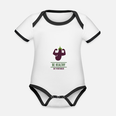 Healthy Be Healthy - Organic Contrast Baby Bodysuit