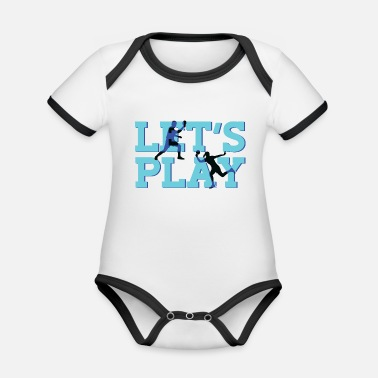 Table Tennis Net Table tennis table tennis rackets - Organic Contrast Baby Bodysuit