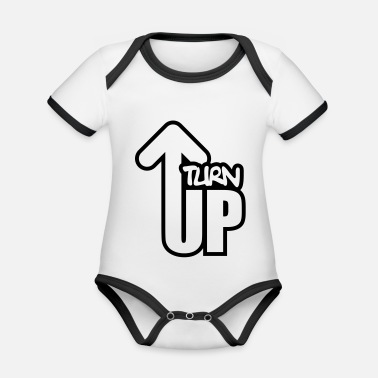 Turn On Turn Up - Organic Contrast Baby Bodysuit