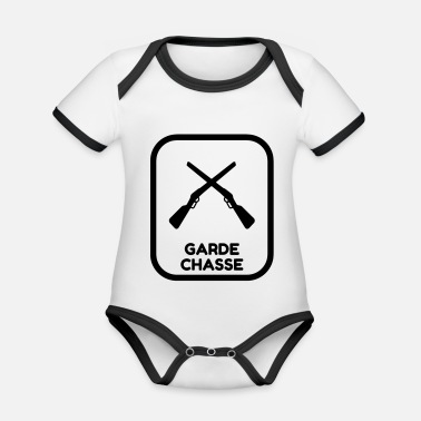 Game Keeper Hunting Wildhüter Garde Chasse - Organic Contrast Baby Bodysuit