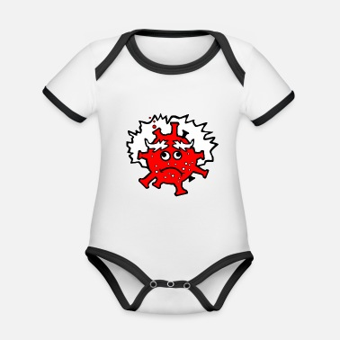 Naughty Fernando Simón cartoon for t-shirts - Organic Contrast Baby Bodysuit