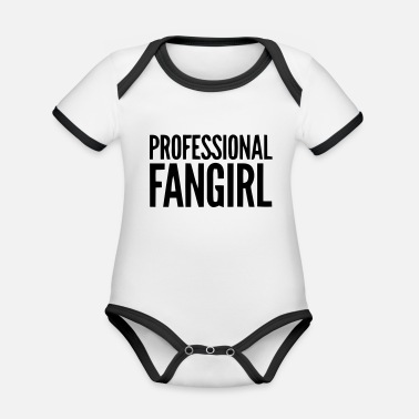 Groupie PROFESSIONELLES FAN GIRL GROUPIE - Baby Bio Kurzarmbody zweifarbig