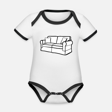 Couch couch - Organic Contrast Baby Bodysuit