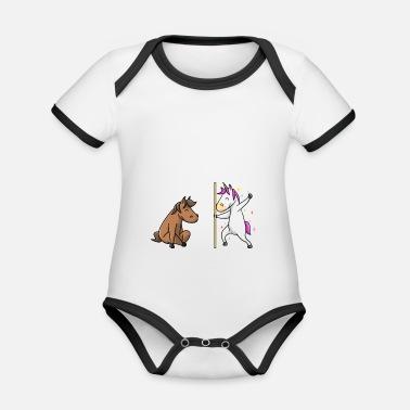 Unicorn horse your aunt my aunt gift EN - Organic Contrast Baby Bodysuit