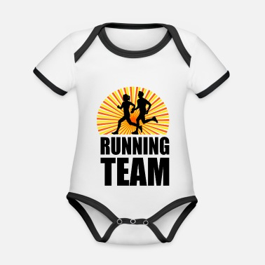 Sports Running Team Sport Fitness Workout - Ekologisk kontrastfärgad babybody