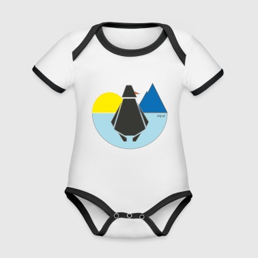 Us ping us - Organic Baby Contrasting Bodysuit
