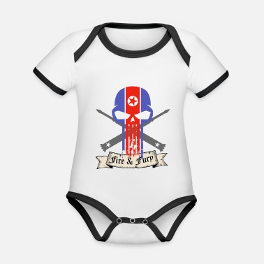North Korea North Korea - Organic Contrast Baby Bodysuit