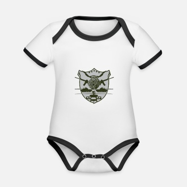 Military military - Organic Baby Contrasting Bodysuit