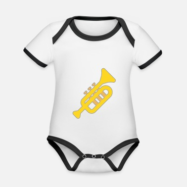Musical Instrument Tuba play musical instrument brass instrument - Organic Contrast Baby Bodysuit