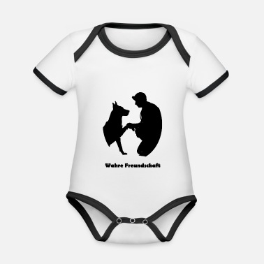 Soul True Friendship Black (0063) - Organic Contrast Baby Bodysuit