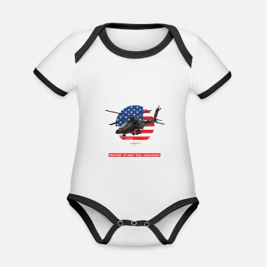 Apache AH 64D Apache Helicopter - Organic Contrast Baby Bodysuit