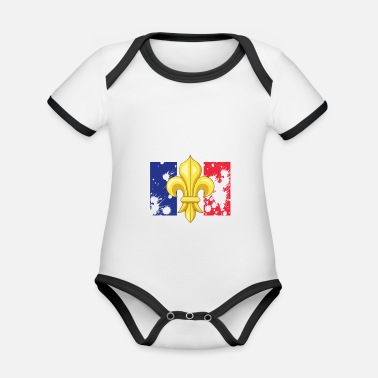 French culture - Organic Contrast Baby Bodysuit