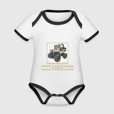 4wd jeep - Organic Baby Contrasting Bodysuit