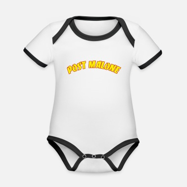 Post Malone Graphic - Organic Baby Contrasting Bodysuit