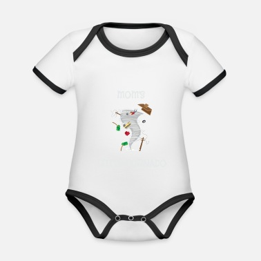 Tornado Cute Mom's Little Tornado for Tornado Kids - Organic Baby Contrasting Bodysuit