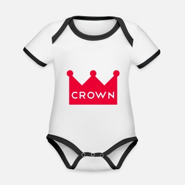 Crown Crown Couronne crown - Organic Contrast Baby Bodysuit