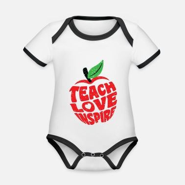Teacher Teach Love Inspire Teacher Teaching Teacher - Økologisk kontrast babybody