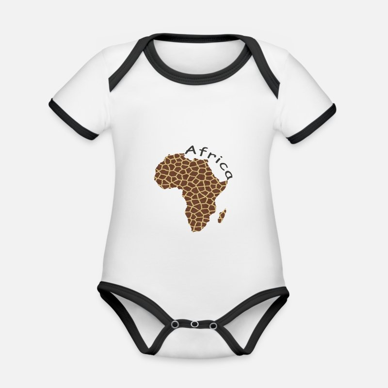 Africa Baby Clothes - Africa, continent, Africa - Organic Contrast Baby Bodysuit white/black