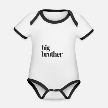 Big Brother Announcement Big Brother, Big Brother Pregnancy Announcement - Organic Contrast Baby Bodysuit