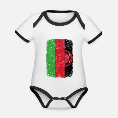 Home Country roots home country roots home Malawi - Organic Contrast Baby Bodysuit