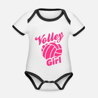 Volley volley girl - Organic Contrast Baby Bodysuit